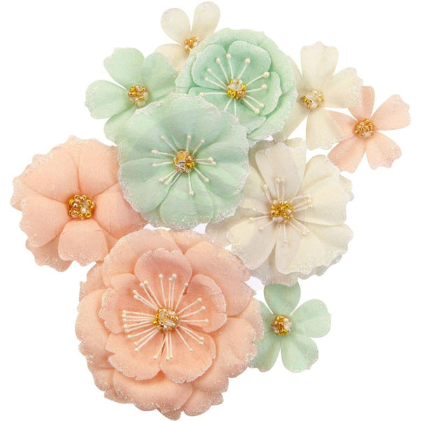 Prima Marketing - Apricot Honey - Mulberry Paper Flowers
