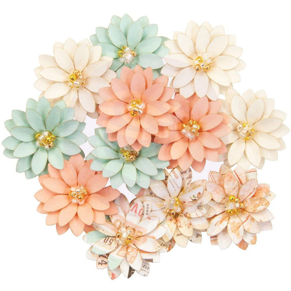 Prima Marketing - Apricot Honey - Grapefruit Tart Paper Flowers