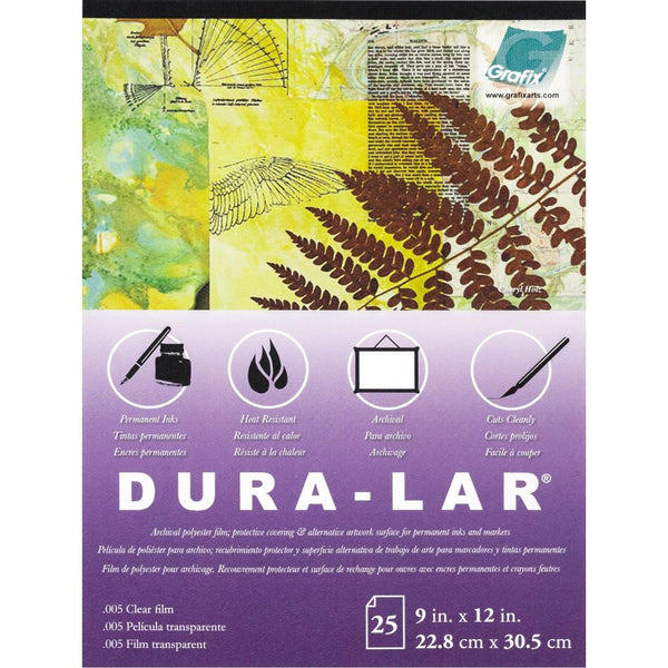 Grafix - Dura-Lar - Clear Film 9 x 12 Pad