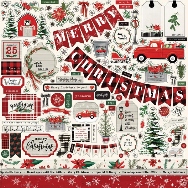 Carta Bella - Christmas Market - Element Sticker Sheet