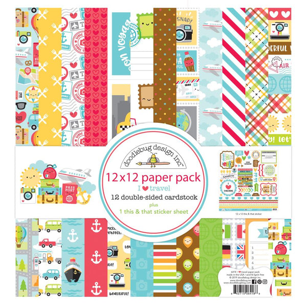 Doodlebug Design - I Heart Travel - Collection Kit