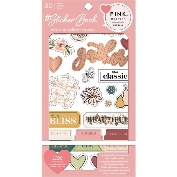 Pink Paislee - #Sticker Book with Gold Foil Treatments