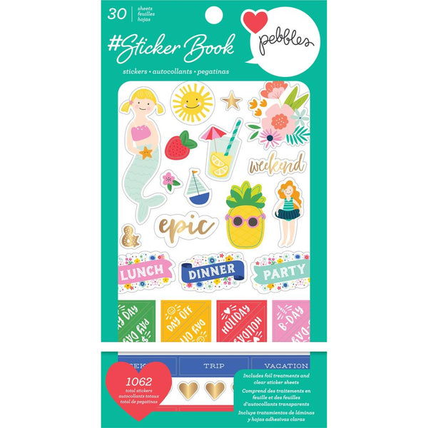 Pebbles - #Sticker Book with Gold Foil Treatments