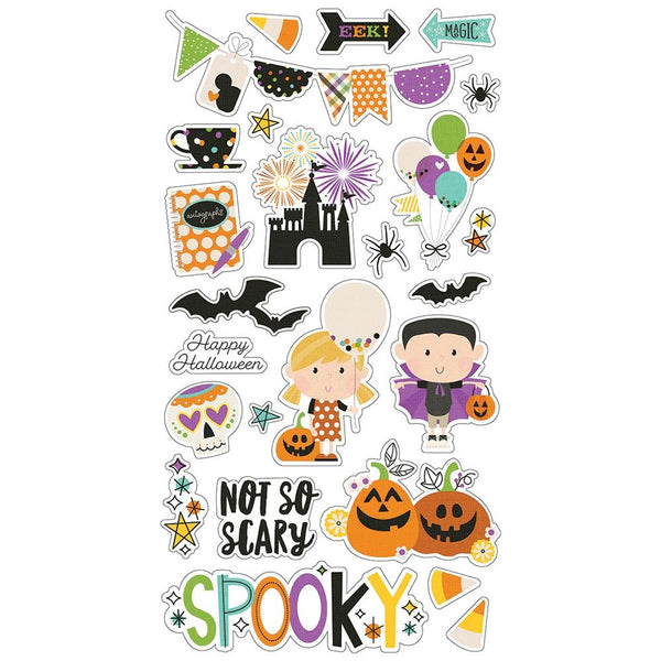 Simple Stories - Say Cheese - Halloween Chipboard Stickers
