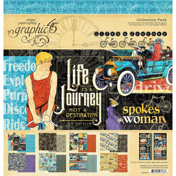 Graphic 45 - Life is a Journey - Collection Pack