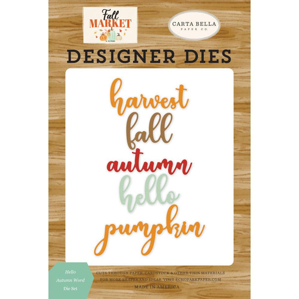 Carta Bella - Fall Market - Hello Autumn Word Die Set