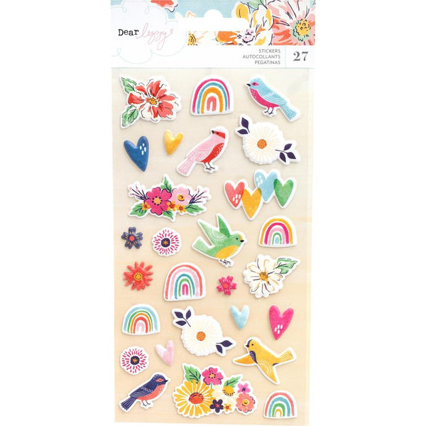 Dear Lizzy - She's Magic - Matte Puffy Stickers