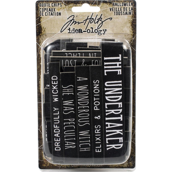 Tim Holtz - Idea-ology - Chipboard Quote Chips - Halloween