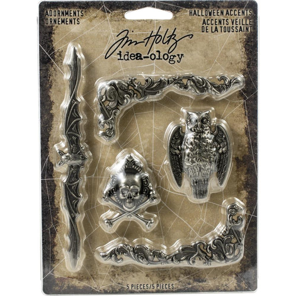 Tim Holtz - Metal Adornments - Antique Nickel Halloween Accents