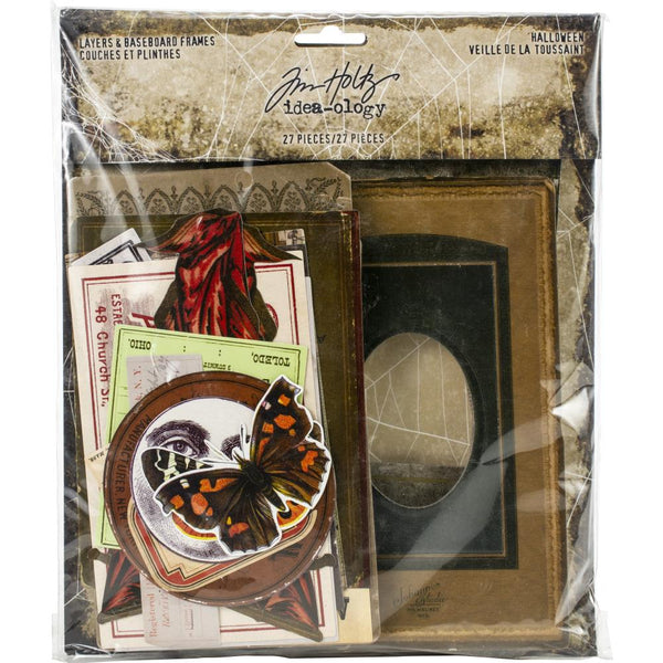 Tim Holtz - Idea-ology - Layers & Baseboard Frames - Halloween