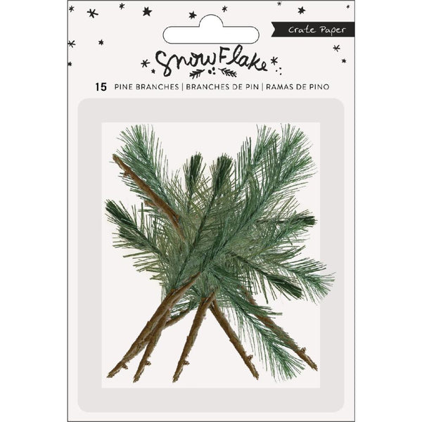 Crate Paper - Snowflake - Pine Branches