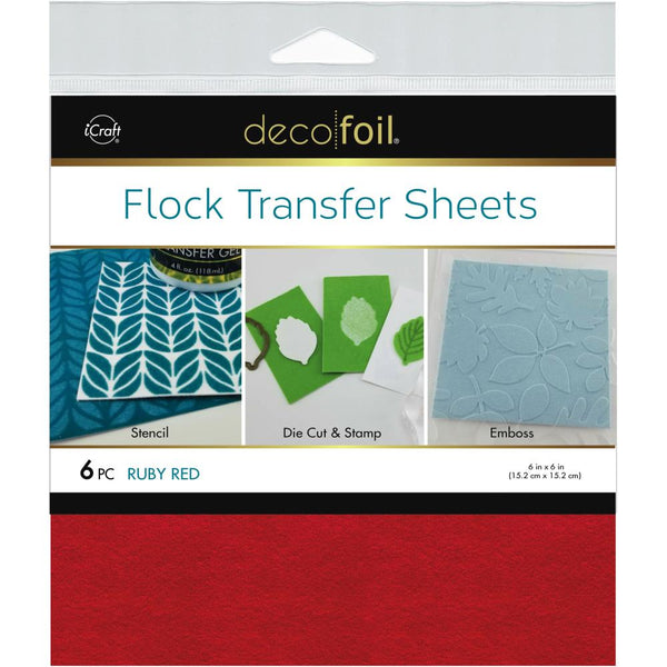 Therm O Web - Deco Foil - Flock Transfer Sheets - Ruby Red