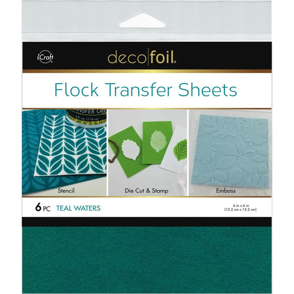 Therm O Web - Deco Foil - Flock Transfer Sheets - Teal Waters