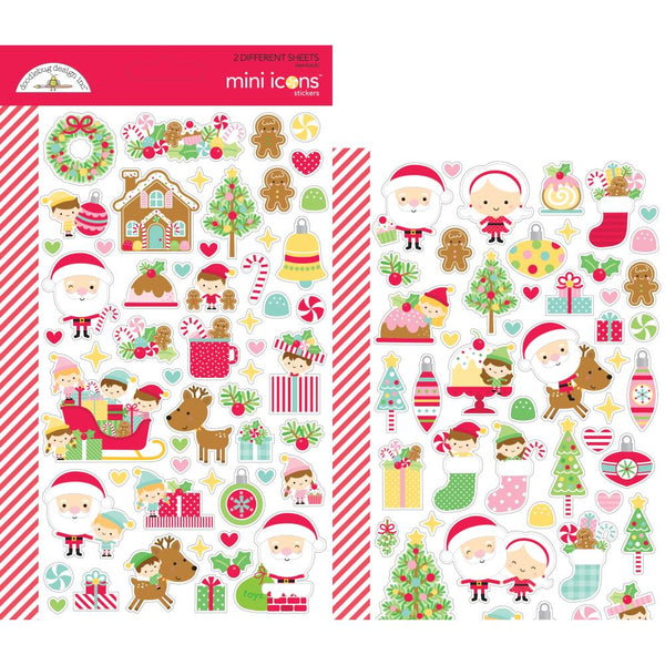 Doodlebug Design - Christmas Magic - Mini Icons Stickers