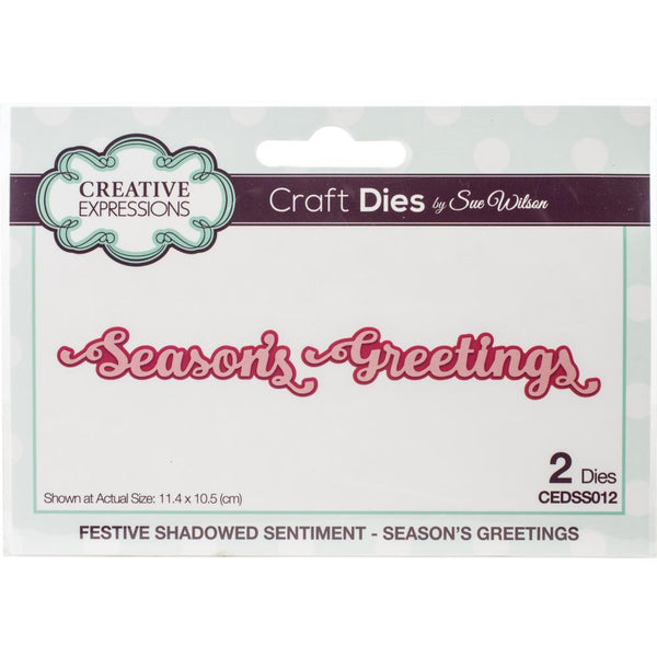 Creative Expressions - Craft Dies By Sue Wilson - Season's Greetings