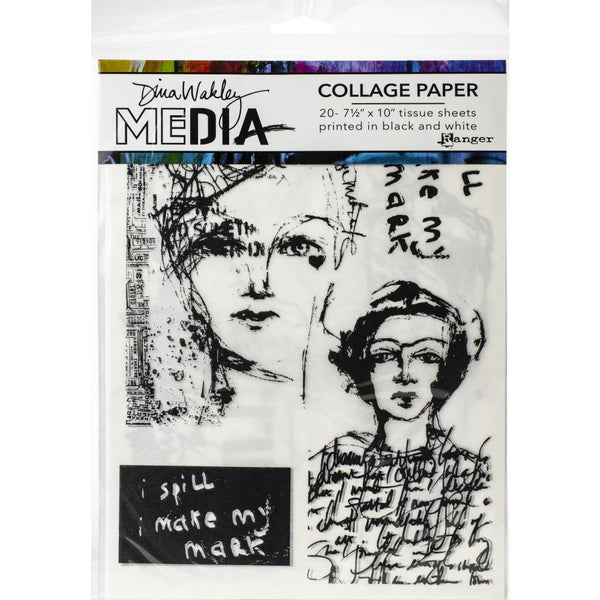 Dina Wakley Media - Collage Paper - Vintage & Sketches