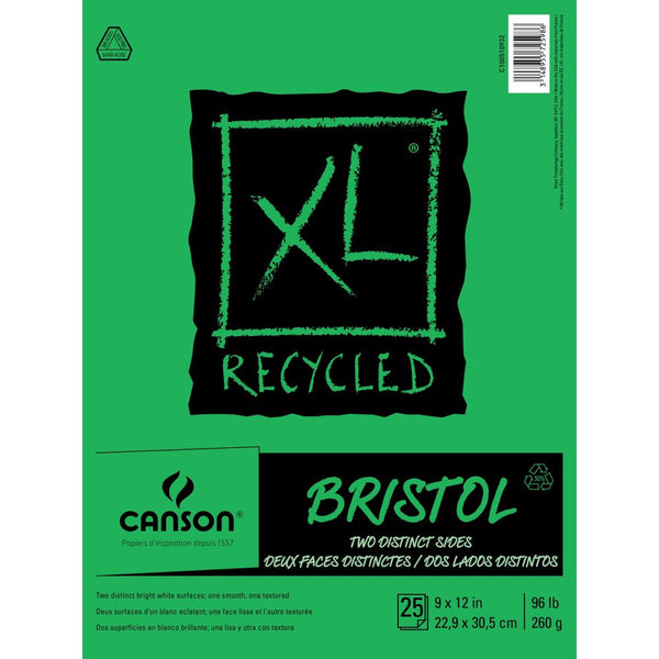 "Canson - XL Recycled - Bristol Paper Pad 9""X12"""