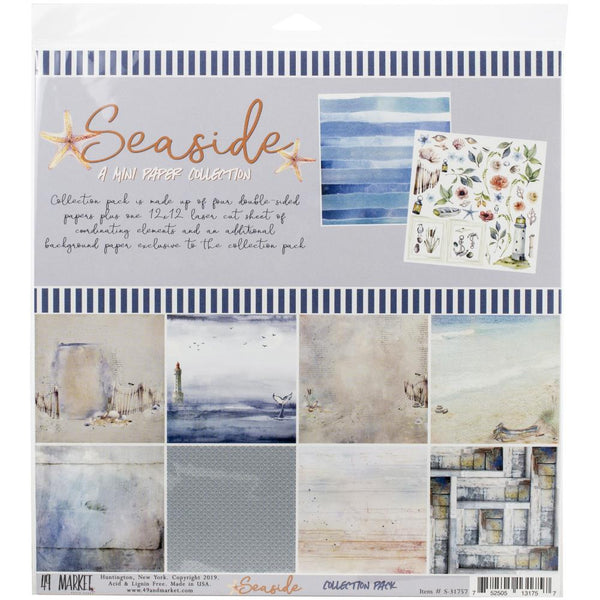 49 and Market - Seaside - 12 x 12 Mini Paper Collection