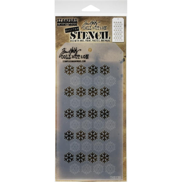 Stampers Anonymous - Tim Holtz -  Shifter Snowflake stencil