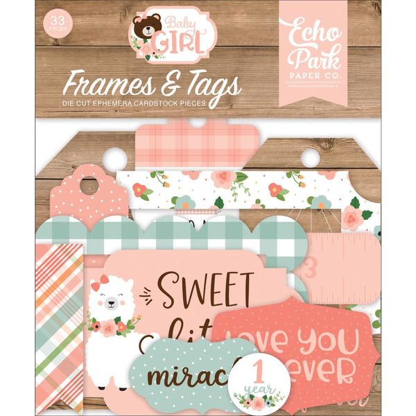 Echo Park - Baby Girl - Frames & Tags pack
