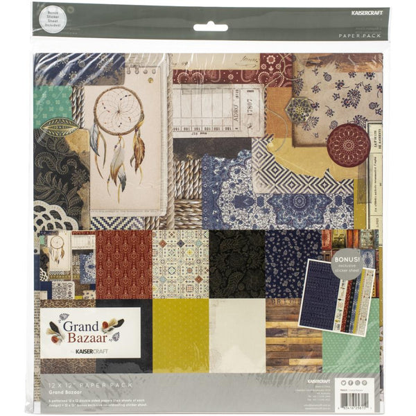 Kaisercraft - Grand Bazaar - 12 x 12 Paper Pack