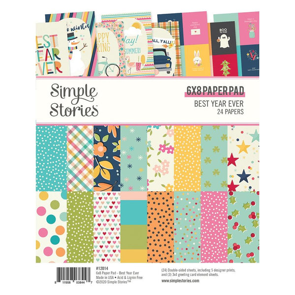 Simple Stories - Best Year Ever - 6 x 8 paper pad