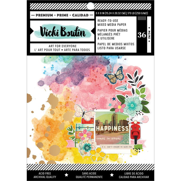 Vicki Boutin - Let's Wander - 6 x 8 Ready-To-Use Mixed Media Paper Pad
