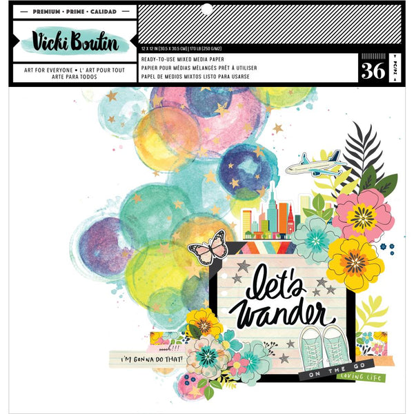 Vicki Boutin - Let's Wander - 12 x 12 Ready-To-Use Mixed Media Paper Pad