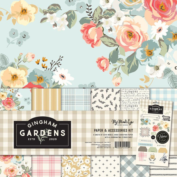 My Minds Eye - Gingham Gardens - 12 x 12 Paper & Accessories Kit