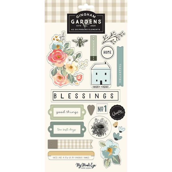 My Mind's Eye - Gingham Gardens - Chipboard Elements