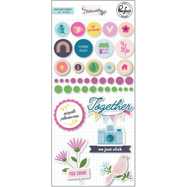 Pinkfresh Studio - Noteworthy - Mixed Embellishments