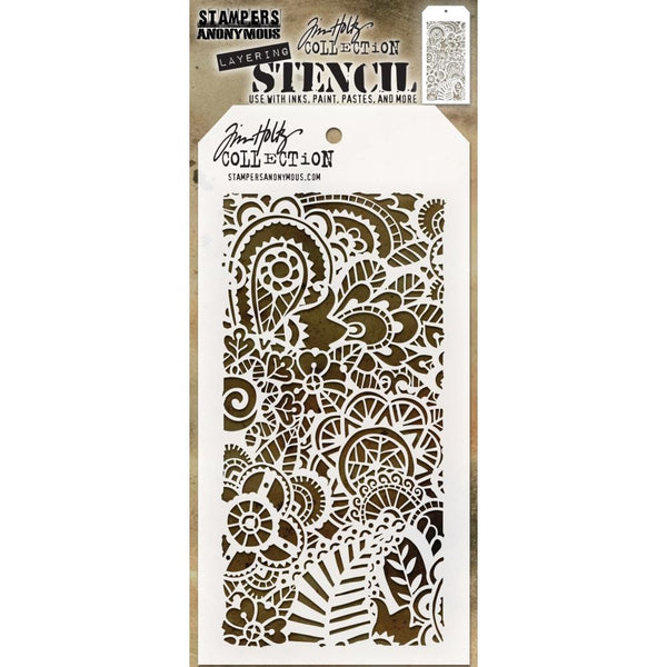 Stampers Anonymous - Tim Holtz - Layering Stencil - Doodle Art 2