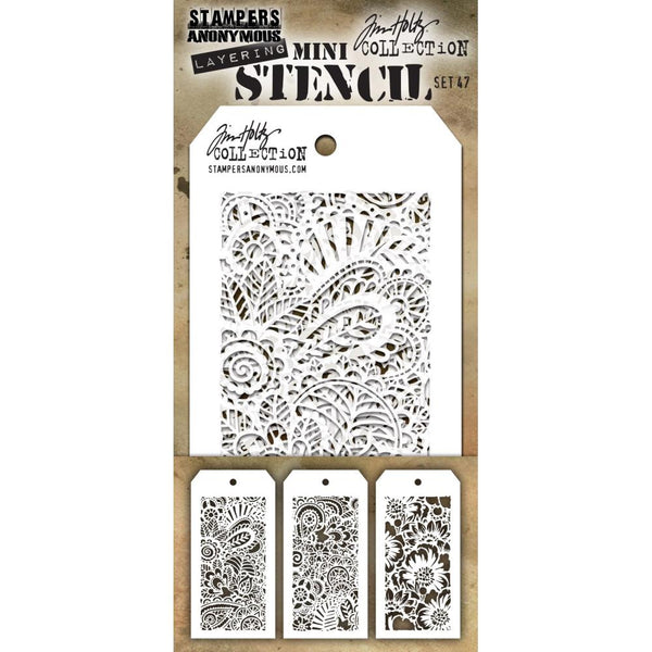 Stampers Anonymous - Tim Holtz - Mini Layering Stencils #47