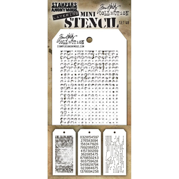Stampers Anonymous - Tim Holtz - Mini Layering Stencils #48