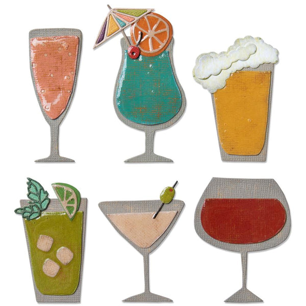 Sizzix - Tim Holtz - Happy Hour die set