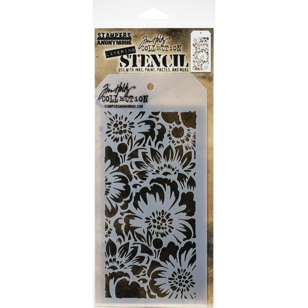 Stampers Anonymous - Tim Holtz - Layering Stencil - Bouquet