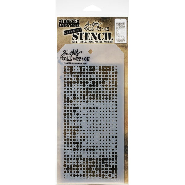 Stampers Anonymous - Tim Holtz - Layering Stencil - Halftone