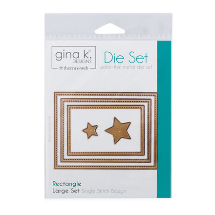 Therm-O-Web - Gina K. Designs - (3) Nested Rectangle Dies - Single Stitch Design - Large Set