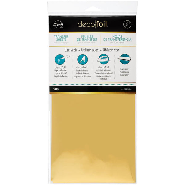 Therm-O-Web - iCraft - Deco Foil - Gold Transfer Sheets - 20 pack