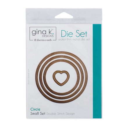 Therm-O-Web - Gina K. Designs - (3) Nested Circle Dies - Double Stitch Design - Small Set