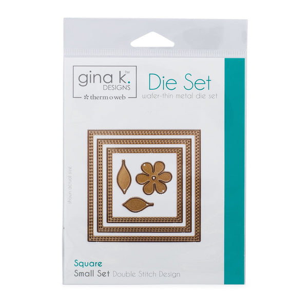 Therm-O-Web - Gina K. Designs - (3) Nested Square Dies - Double Stitch Design - Small Set