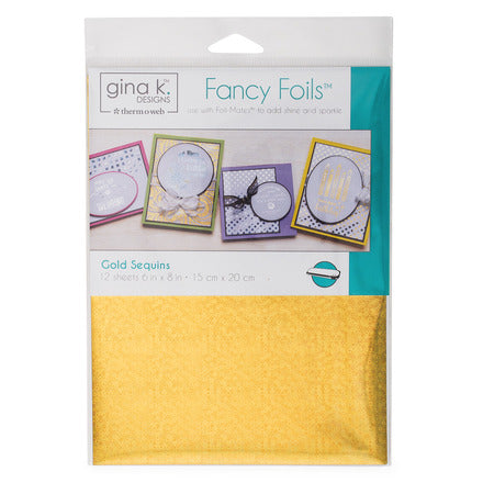 Therm-O-Web - Gina K. Designs - Fancy Foils - Gold Sequins