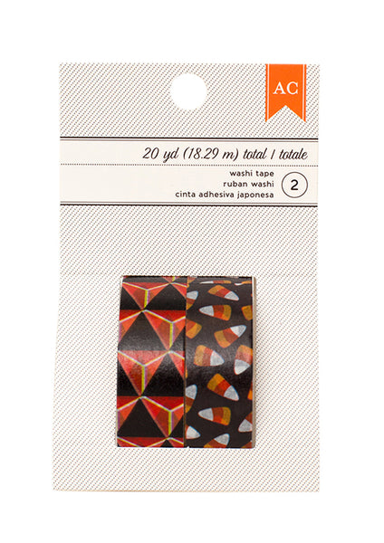 American Crafts - Halloween Washi Tape - Candy Corn/Orange & Black Diamond