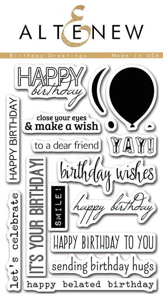 Altenew - Birthday Greetings Stamp Set