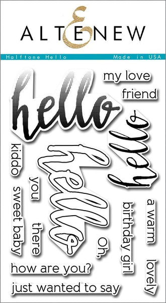 Altenew - Halftone Hello Stamp Set