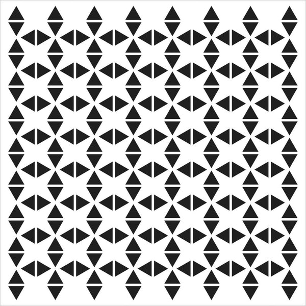 6x6 - Crafter's Workshop - Mini Tribal Triangles stencil