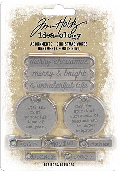 Tim Holtz - Idea-ology Adornments - Christmas Words