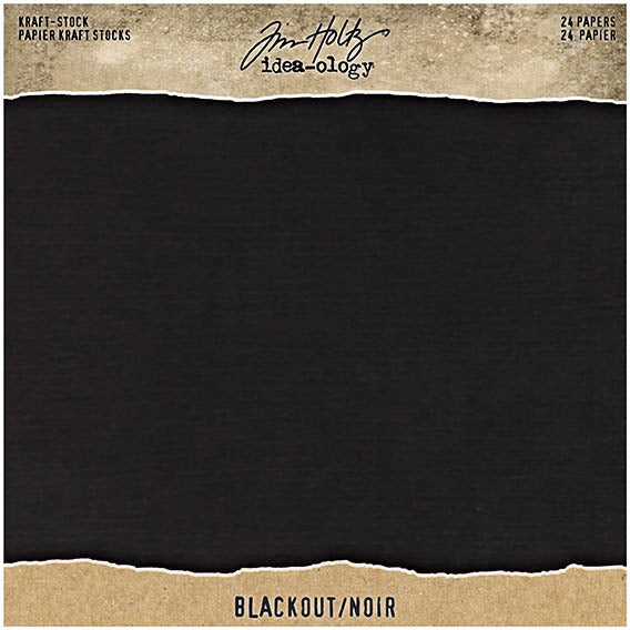 Tim Holtz - Kraft Stock - Blackout 8x8 paper pad