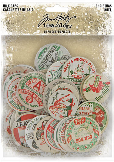Tim Holtz - Idea-ology - Milk Caps Christmas