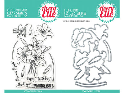 Avery Elle - Spring Bouquet Stamp & Die Bundle